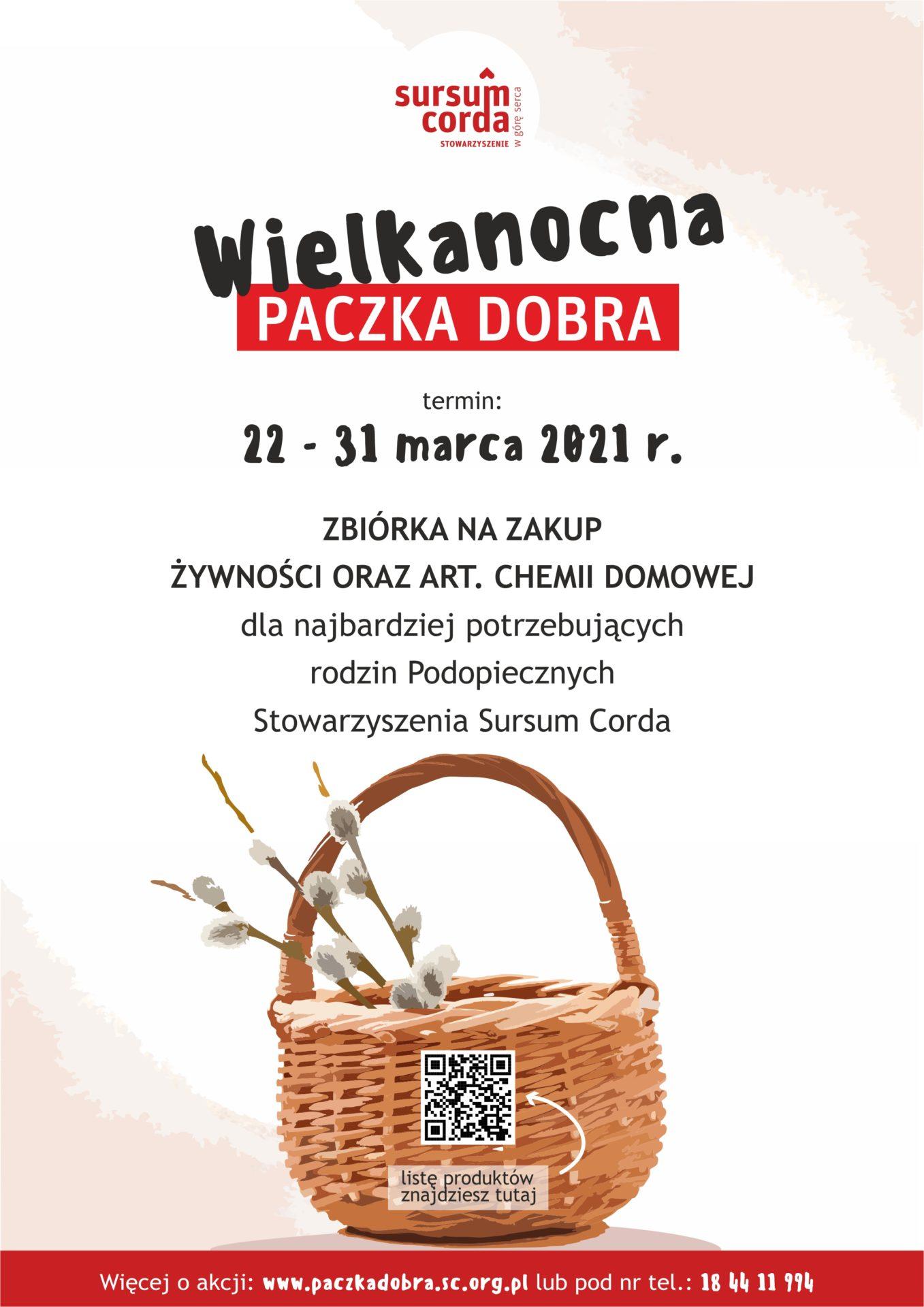 Wielkanocna Paczka Dobra 2021_SursumCorda_plakat